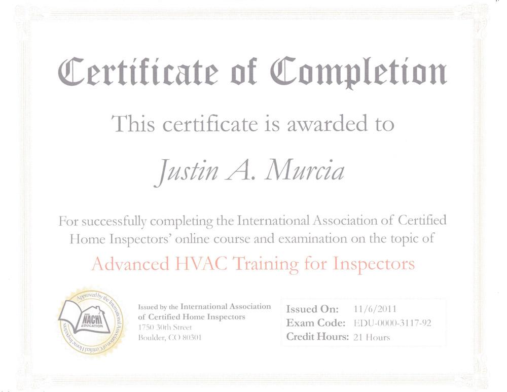Hvac Certificate - Best Design Sertificate 2018